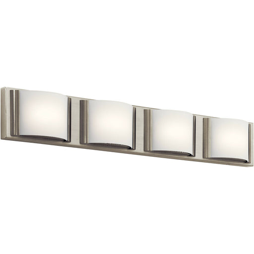 Elan by Kichler Lighting 83820 NI Bretto Collection Four Light LED Bath Vanity Wall Light in Brushed Nickel Finish