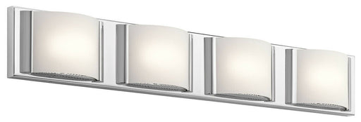 Elan by Kichler Lighting 83821 CH Bretto Collection Four Light LED Bath Vanity Wall Light in Polished Chrome Finish