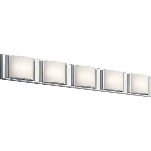 Elan by Kichler Lighting 83823 CH Bretto Collection Five Light LED Bath Vanity Wall Light in Polished Chrome Finish