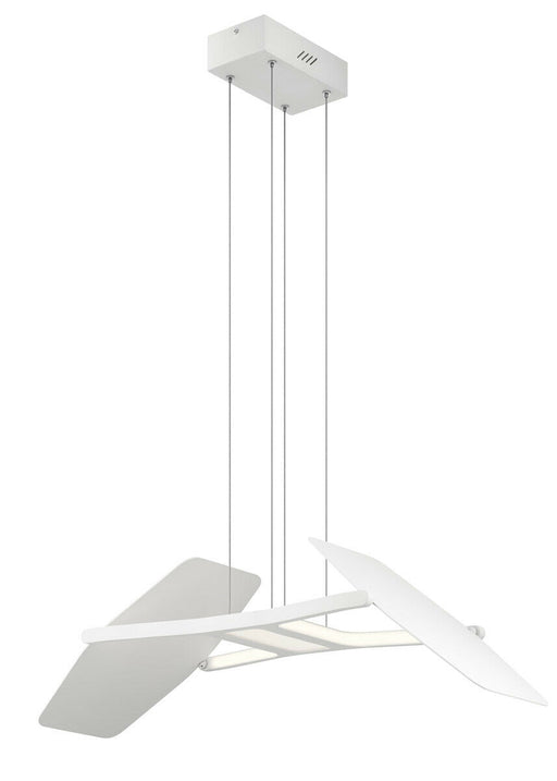 Elan by Kichler Lighting 83862 Wings Collection LED Hanging Pendant Chandelier in Matte White Finish