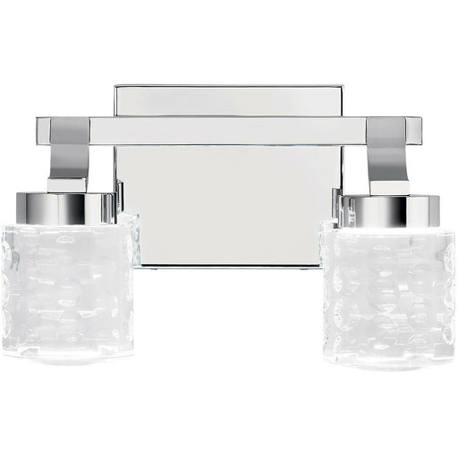 Kichler Lighting 84040 Rene Collection Two Light LED Bath Vanity Wall Mount in Polished Chrome Finish