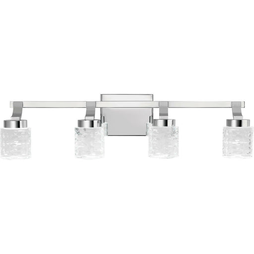 Kichler Lighting 84042 Rene Collection Four Light LED Bath Vanity Wall Mount in Polished Chrome Finish