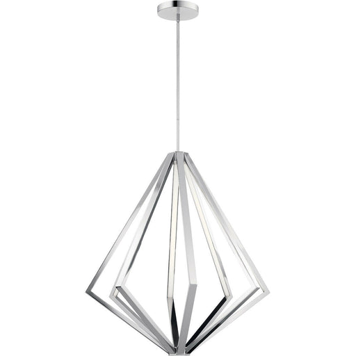 Elan by Kichler Lighting 84088 Everest Collection LED Hanging Pendant Chandelier in Polished Chrome Finish