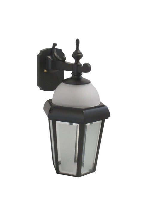 Adjustapost DLX86029 BLK One Light Exterior Outdoor Wall Lantern in Black Finish