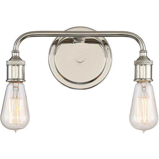 Quoizel Lighting MNO8602IS Menlo Collection Two Light Bath Bar in lmperial Silver Finish