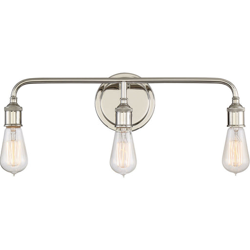 Quoizel Lighting MNO8603IS Menlo Collection Three Light Bath Bar in lmperial Silver Finish