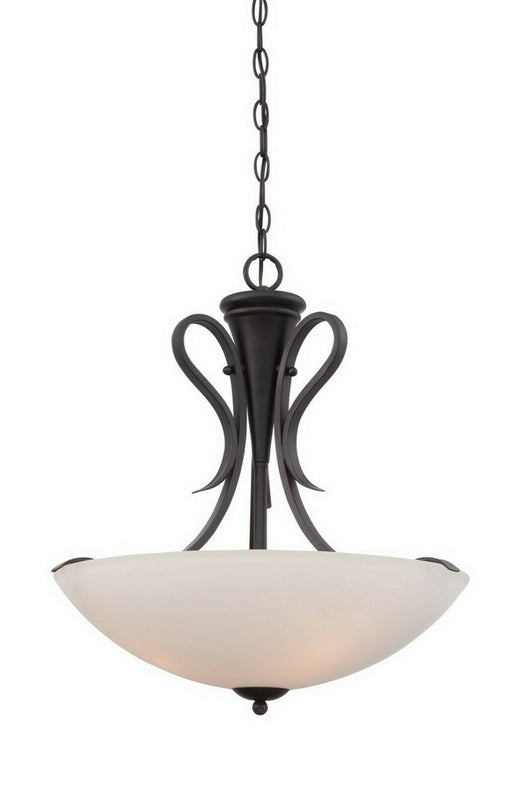 Designers Fountain Lighting 86731 ORB Galena Collection Three Light Hanging Pendant Chandelier in Oil Rubbed Bronze Finish