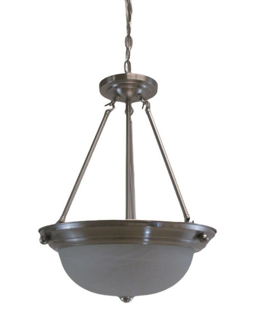 Trans Globe 8912 BN Three Light Pendant Chandelier in Brushed Nickel Finish
