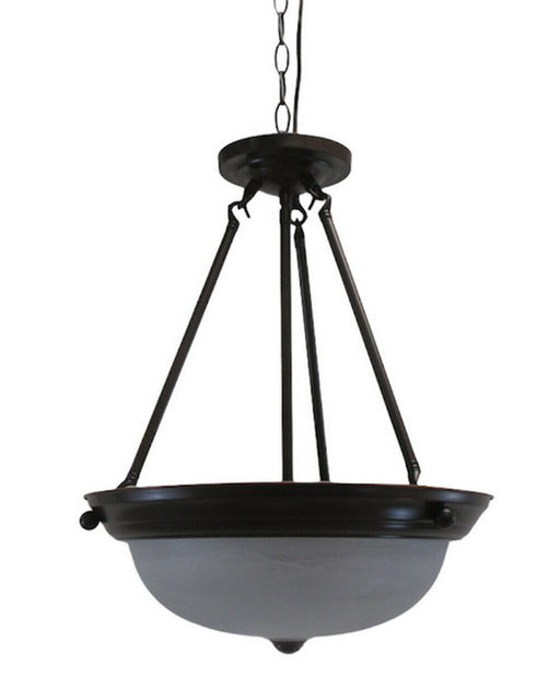 Trans Globe 8912 ROB Three Light Pendant Chandelier in Rubbed Oil Bronze Finish