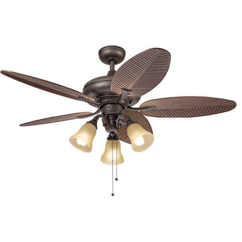 "Kichler Lighting 89530-89762 52"" Ceiling Fan in Bronze Finish"