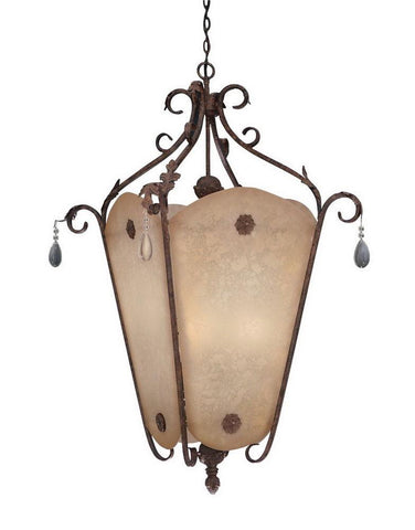 Designers Fountain Lighting 91402 AO San Mateo Collection Nine Light Hanging Pendant Chandelier in Ancient Oak Finish