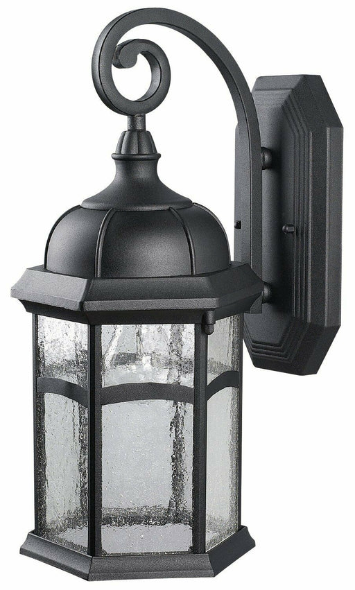 Rainbow Lighting L91BK One Light Exterior Wall Lantern in Black Finish