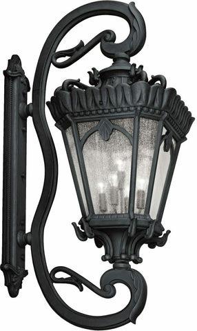 Kichler Lighting 9362BKT Tournai Collection LARGE Five Light Exterior Wall Lantern in Textured Black Finish