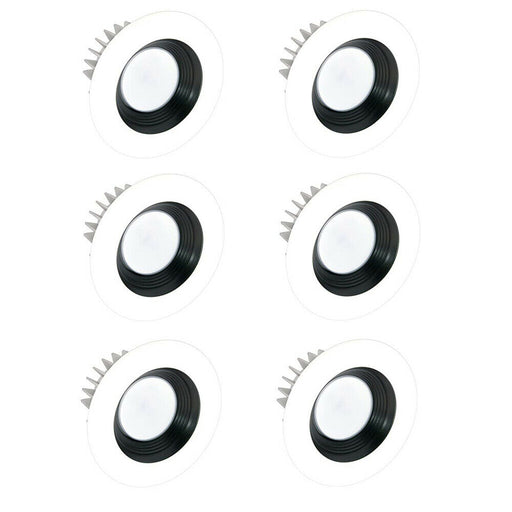 American Lighting X45-E26-30/X4-BKB-WH-X45 Integrated LED 4 Inch 3000k Warm White Module - Black Baffle and White Recessed Trim 6 Pack