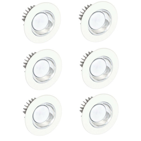 American Lighting X45-E26-27/X4-CSM-WH-X45 Integrated LED 4 Inch 2700k Warm White Module - Silver Mulitiplier and White Recessed Trim 6 Pack