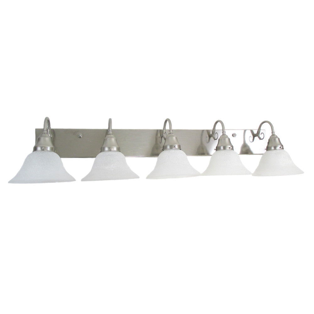 ANP 6036-5 Five Light Brushed Nickel Wall Mount Vanity With Glass Shown