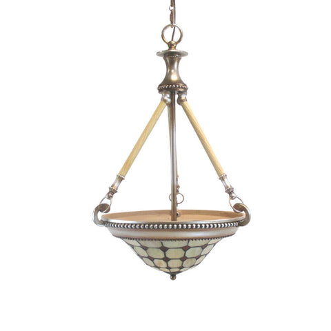 Rainbow Lighting CH-L Three Light Pendant Chandelier in Satin Brass and Brushed Nickel Finish