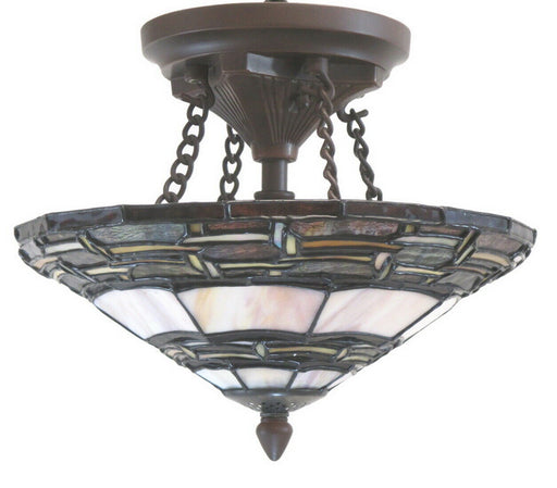 Rainbow Lighting CH-M Two Light Arts and Crafts Semi Flush Ceiling Mount in Bronze Finish