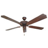 Craftmade Ellington ELN52BCW Ellington Collection Ceiling Fan in Biscay Walnut Finish - Quality Discount Lighting