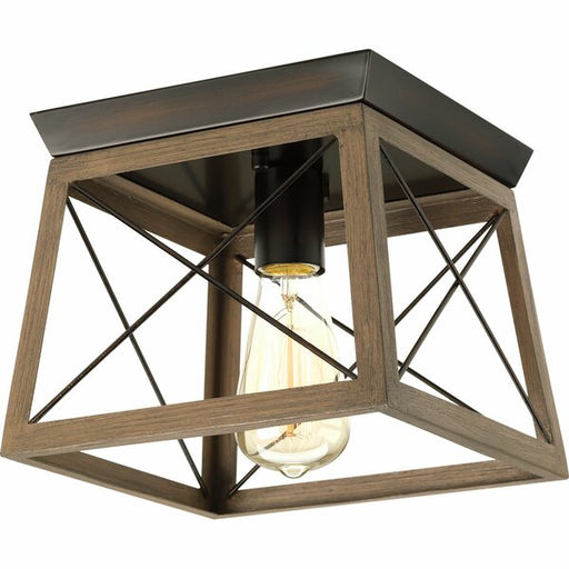 Laurel Foundry Modern Farmhouse Delon One Light Flush Mount in Antique Bronze Finish
