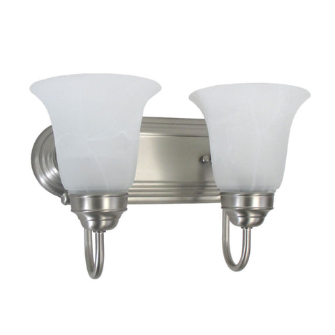 Epiphany Lighting 106044-252 BN Two Light Bath Wall Fixture in Brushed Nickel Finish - Quality Discount Lighting
