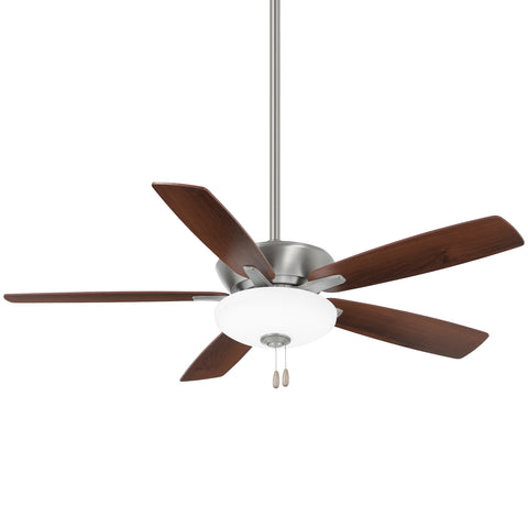 "Minka Aire SPECIAL ORDER F553L-BN/DW Minute Collection 52"" Ceiling Fan in Brushed Nickel Finish"