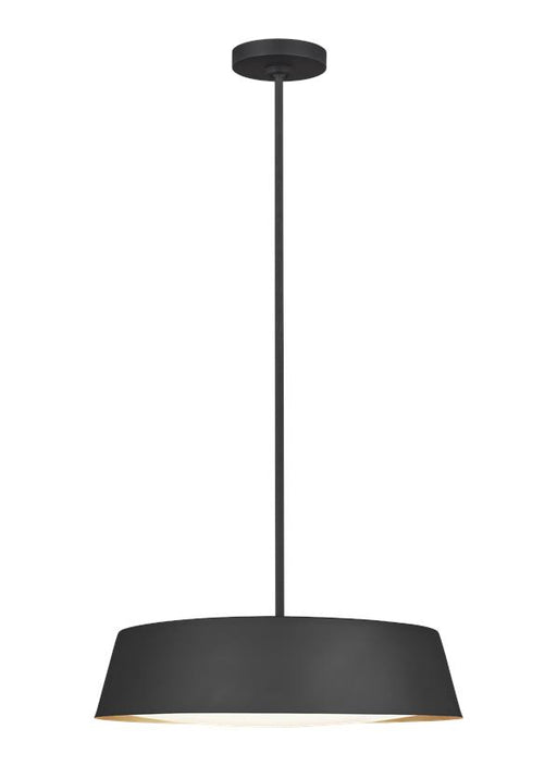 Asher Model #1055 Three Light Flush Ceiling Fixture in Midnight Black or Matte White Finish