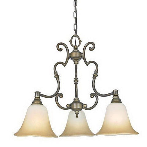 Quoizel Lighting JL5103VE Three Light Juliet Collection Chandelier in Verona Finish - Quality Discount Lighting