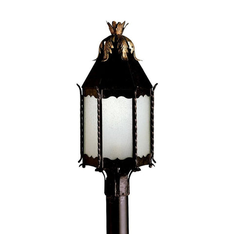 Kichler Lighting 10977 FZ Portolo Collection Fluorescent Outdoor Exterior Post Lantern in Franciscan Bronze Finish - Quality Discount Lighting
