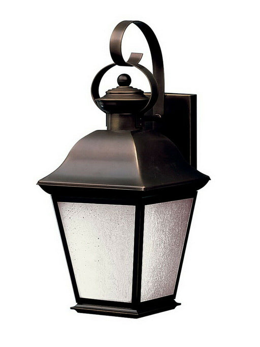 Kichler Lighting 10908OZ-LED Mount Vernon Collection One Light LED Exterior Outdoor Wall Lantern in Olde Bronze Finish