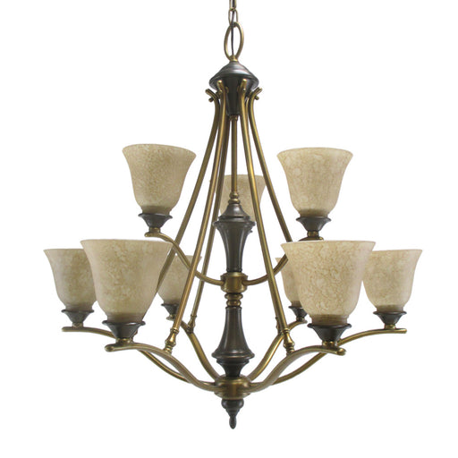 Aztec 034246-Q2812 by Kichler Lighting Nine Light Hanging Chandelier in Royal Bronze Finish - Quality Discount Lighting
