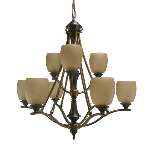 Aztec 034246-Q2943R by Kichler Lighting Nine Light Hanging Chandelier in Royal Bronze Finish - Quality Discount Lighting