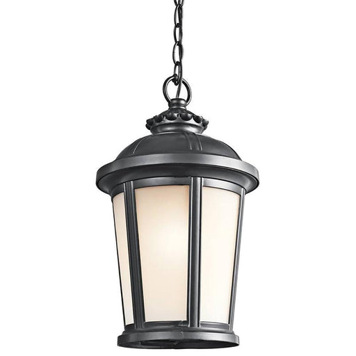 Kichler Lighting 49412BK Ralston Collection One Light Exterior Outdoor Hanging Lantern in Black Finish
