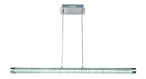 Trans Globe Lighting MDN-1285 Concord Collection LED Linear Pendant Chandelier in Polished Chrome Finish