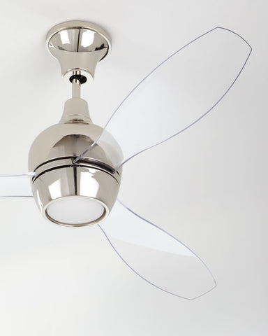 "Bordeaux 52"" Ceiling Fan Available in 2 Finish Options with  Acrylic Blades"