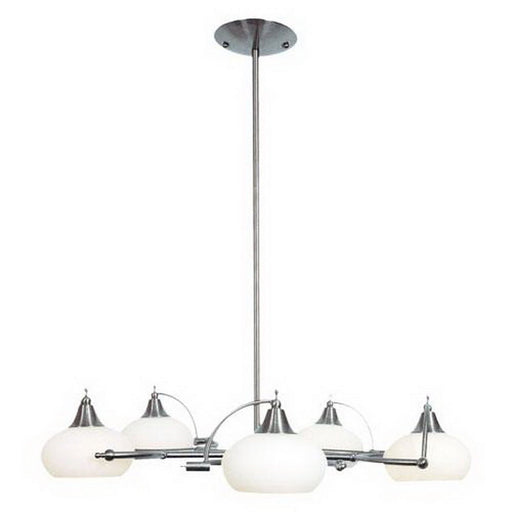 Ulextra Lighting P42-5 SCH Five Light Hanging Chandelier in Satin Chrome Finish - Quality Discount Lighting