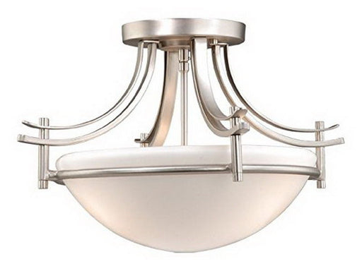 Vaxcel Lighting SE-CFU180 BN Sebring Collection Dual Mount Two Light Semi Flush Ceiling or Pendant Fixture in Brushed Nickel Finish - Quality Discount Lighting