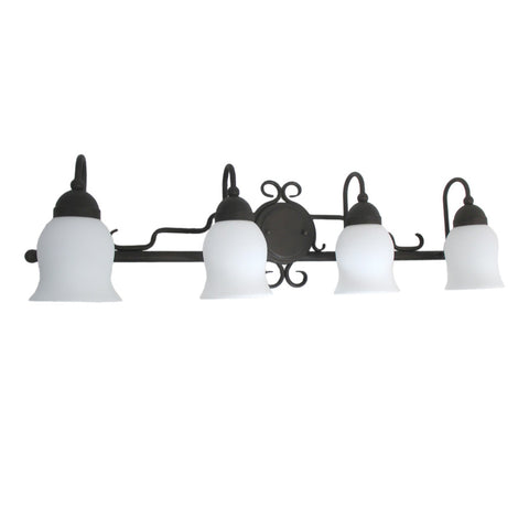 Trans Globe Lighting 2864 ROB Four Light Bath Vanity Wall Mount in Rubbed Oil Bronze Finish - Quality Discount Lighting