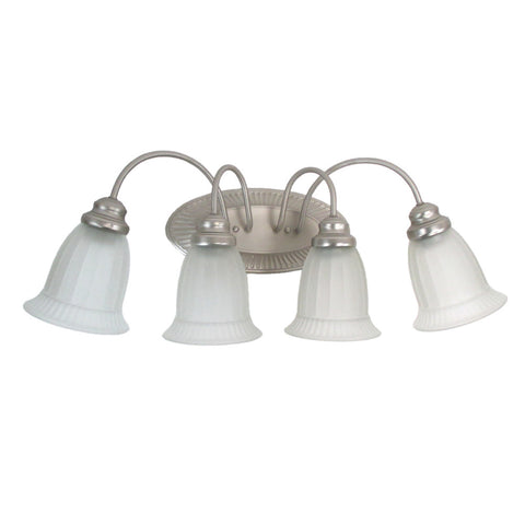 Trans Globe Lighting 6664 PW Four Light Vanity Bath Wall Mount in Pewter Finish - Discount Lighting Fixtures