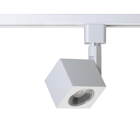 Square Model #46 LED Track Head in White, Black or Brushed Nickel Finish