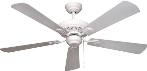 Craftmade Ellington UPT52MWW5 Uptown Collection Ceiling Fan in Matte White Finish - Quality Discount Lighting