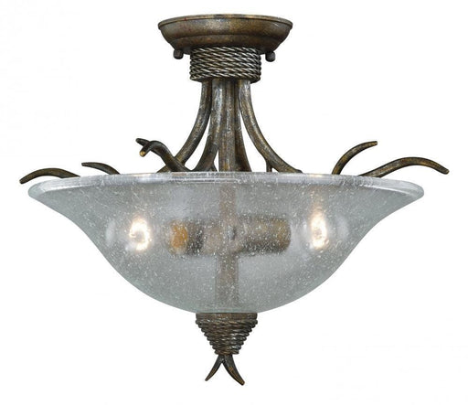 Vaxcel Lighting C0044 AP Monterey Collection Two Light Semi Flush Ceiling Mount in Autumn Patina Finish - Quality Discount Lighting
