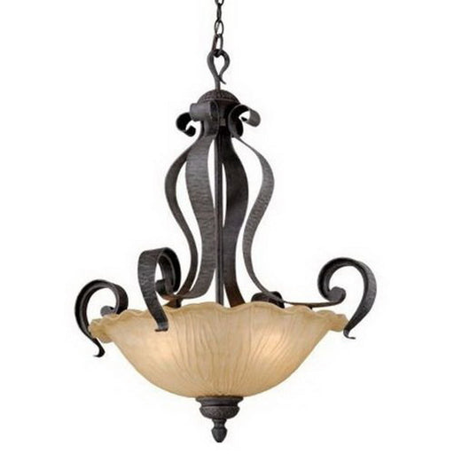 Vaxcel Lighting HB-PDU240 OI Hapsburg Collection Three Light Hanging Pendant Chandelier in Olde Iron Finish - Quality Discount Lighting