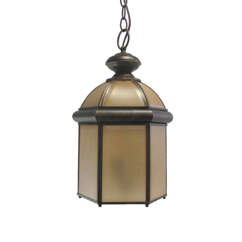 Vaxcel Lighting OD7916 NB Outdoor Exterior Hanging Lantern in Noble Bronze Finish - Quality Discount Lighting