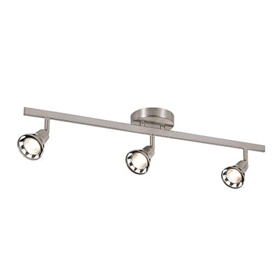Trans Globe Lighting CB-W-493-BN Three Light LED Track Pendant in Brushed Nickel Finish