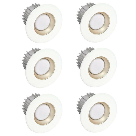 American Lighting X34-E26-40/X3-SPM-WH-X34 Integrated LED 3 Inch 4000k Bright Cool White Module - Pearl with White Recessed Trim 6 Pack