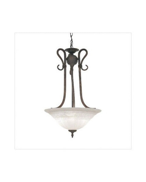 Designers Fountain Lighting 5663 MP Sevilla Collection Three Light Bowl Pendant Chandelier in Mediterranean Patina Finish - Quality Discount Lighting