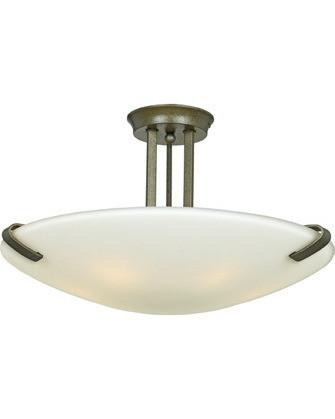 Quoizel Lighting LD1724 IR Lakewood Collection Six Light Semi Flush Ceiling Light in Iron Age Finish - Quality Discount Lighting