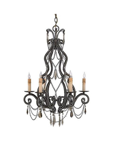 Quoizel Lighting RDA5006 RY Diana Collection Six Light Chandelier in Regency Gold Finish - Quality Discount Lighting