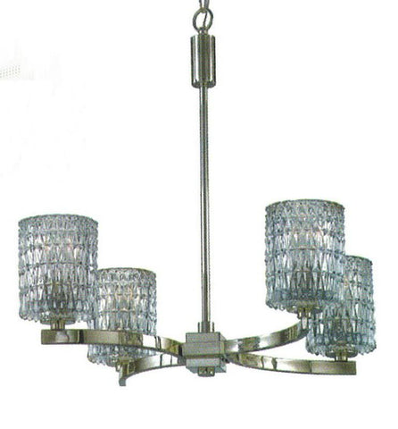 Quoizel Lighting RAN5004 IS Anallie Collection Four Light Chandelier in Imperial Silver Finish - Quality Discount Lighting